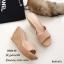 รองเท้าส้นเตารีดหนังกลับทรงสวม (สีกากี) thumbnail 1