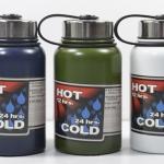 Pre-order กระบอกน้ำสุญญากาศ กระติกน้ำร้อน กระติกน้ำเย็น สแตนเลส 2 ชั้น พร้อมกระเป๋าสะพาย ผิวเรียบ ไม่มีลวดลาย ขนาดบรรจุ 600 มล. สี่สี สีกรมท่า สีเขียว สีขาว และสีเงิน