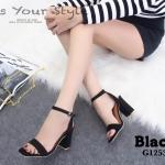 รองเท้าส้นตัน Style Zara (สีดำ)
