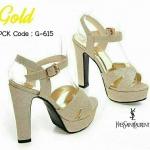 รองเท้า YSL Glitter (สีทอง)