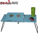 Pre-order ชุดโต๊ะคอมพิวเตอร์ โต๊ะแล็ปท้อป แบบมีพัดลมระบายอากาศ สีฟ้า