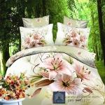 (Pre-order) ชุดผ้าปูที่นอน ปลอกหมอน ปลอกผ้าห่ม ผ้าคลุมเตียง ผ้าฝ้ายพิมพ์ 3D รูปดอกไม้
