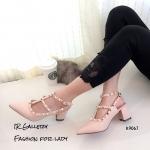 รองเท้า Valentino ส้นตัน (สีชมพู)