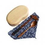 (พรีออเดอร์) กล่องข้าวไม้ กล่องข้าวญีปุ่น เบนโตะ กล่องห่ออาหารกลางวัน ไม้แท้ ลายสวย ปลอดภัย ทรงเม็ดถั่ว ชั่นเดียว สีบีช