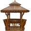 ศาลาทรงไทย ทรงแปดเหลี่ยม หลังคาสองชั้น มีพนักพิงและม้านั่งสามด้าน ไม้เนื้อแข็งรวม ศาลาไม้สำหรับนั่งเล่นในสวน thumbnail 1