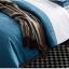 (Pre-order) ชุดผ้าปูที่นอน ปลอกหมอน ปลอกผ้าห่ม ผ้าคลุมเตียง ผ้าไหม ผ้าซาติน และผ้าฝ้าย สีฟ้าขาว แบบทูโทน thumbnail 5
