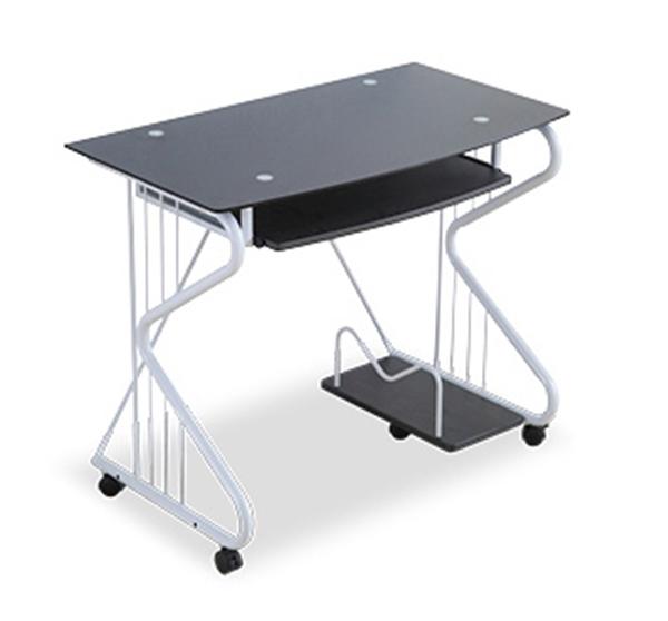 Pre-order โต๊ะทำงาน โต๊ะวางแล็ปท้อป โต๊ะคอมพิวเตอร์พีซี แผ่นท้อปกระจก สีดำ
