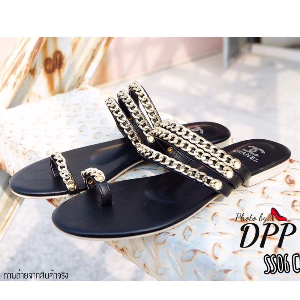 รองเท้าแตะ Style CHANEL sandal 2018 (สีดำ)