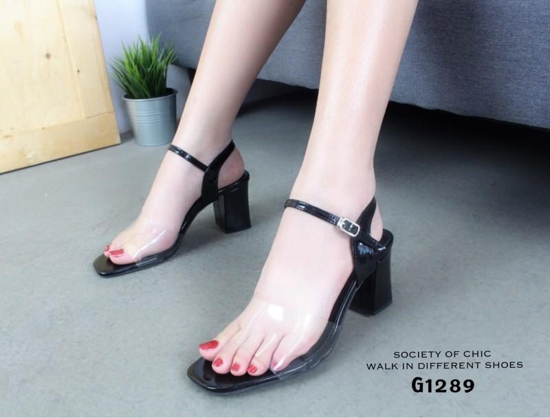 รองเท้าส้นตัน Style Maxi (สีดำ)