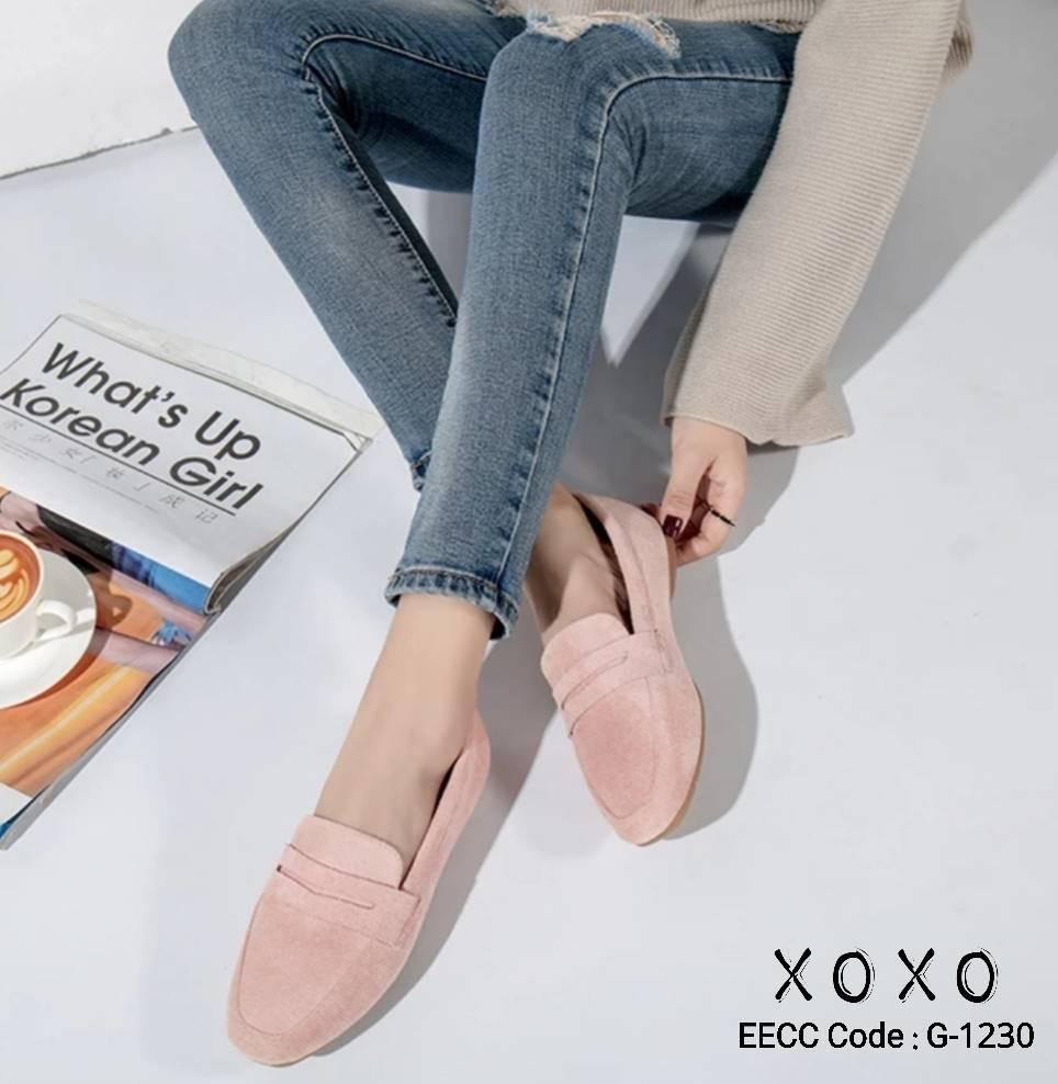 รองเท้าคัทชู Style Tod's (สีชมพู)