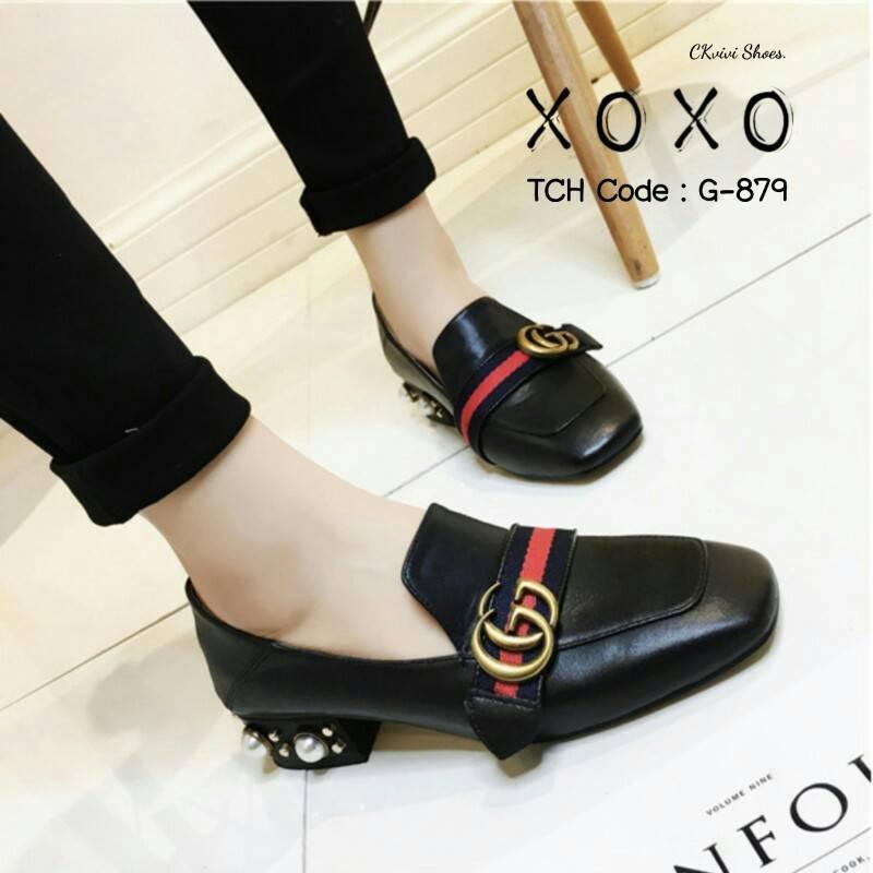 รองเท้าคัทชูส้นมุก Style Gucci