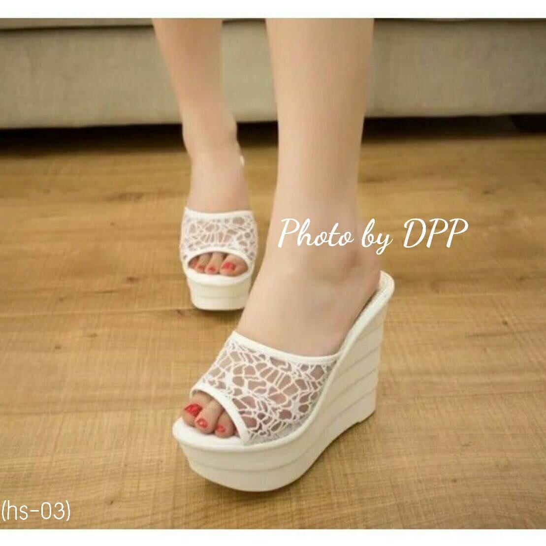 รองเท้า Platform สไตล์เกาหลี (สีขาว)
