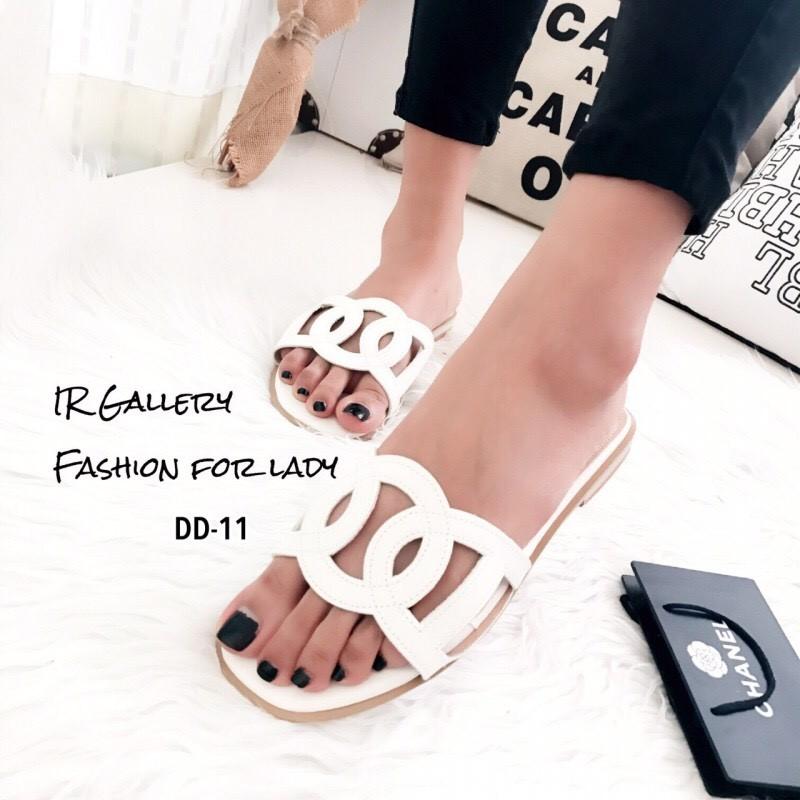 รองเท้าแตะสวม Style Hermes (สีขาว)