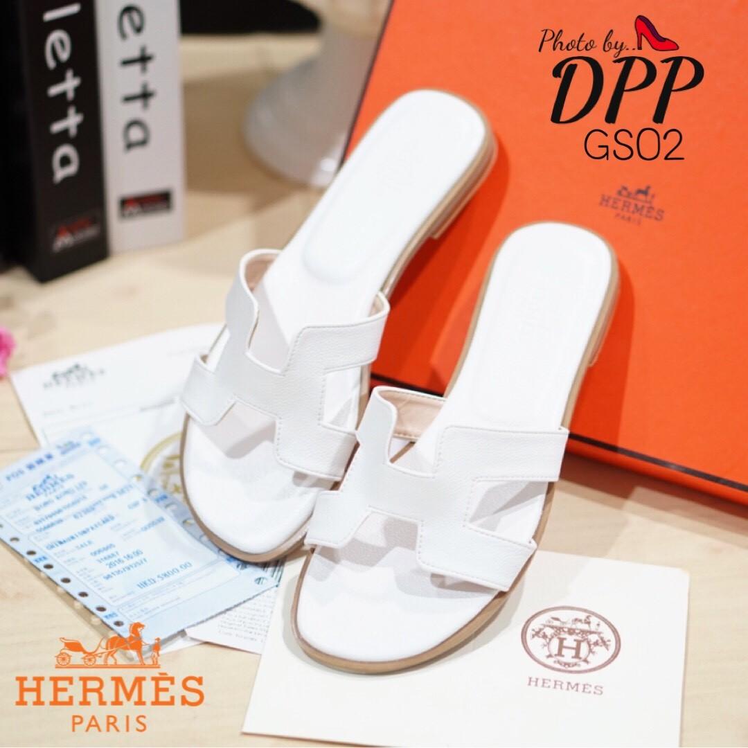 รองเท้าแตะ Style Hermes (สีขาว)