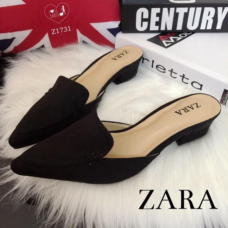 พร้อมส่ง : รองเท้าหัวแหลม STYLE ZARA (สีดำ)