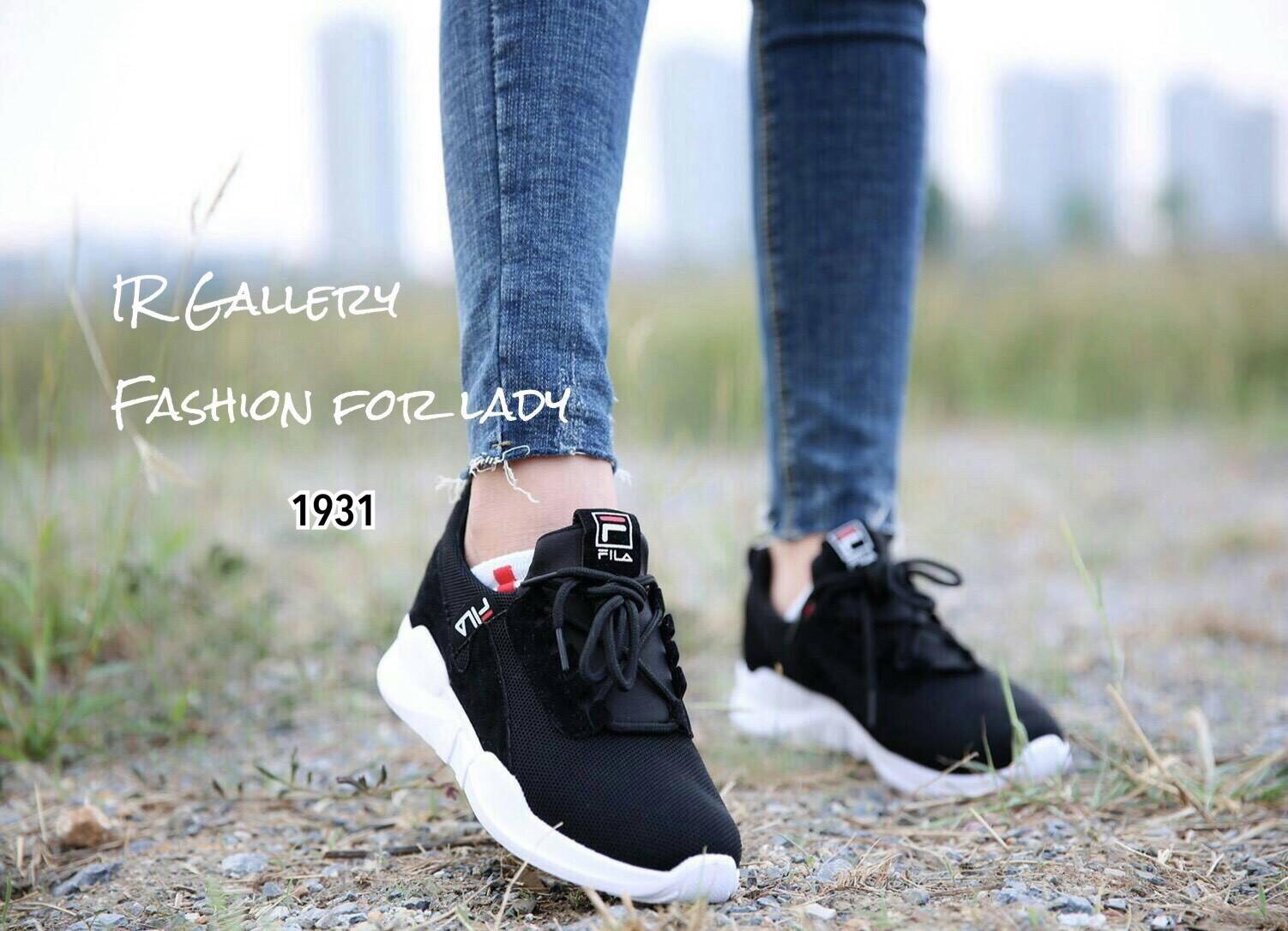 2018 sneakers exklusiva skor bästa försäljning รองเท้าผ้าใบ Style FILA (สีดำ) | PChome Thai