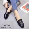 รองเท้าคัทชูทรงสวม Style Gucci (สีดำ)