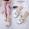 รองเท้าแตะ Style Hermes ฉลุลาย (สีขาว)