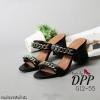 รองเท้าส้นตัน Style Givenchy (สีดำ)