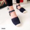 รองเท้าลูกไม้รัดส้น (สีน้ำเงิน)