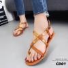 รองเท้าแตะรัดส้นสไตล์ Dior (สีน้ำตาล)