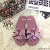 รองเท้าแตะโบว์สไตล์แฟชั่นเกาหลี (สีชมพู)