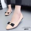 รองเท้าคัทชูหนังนิ่ม Style Dior (สีครีม)