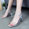 รองเท้าส้นตัน Style Maxi (สีเงิน)