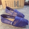 พร้อมส่ง : รองเท้าส้นแบนสไตล์ TOMS (สีน้ำเงิน)