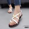 รองเท้าแตะรัดส้นสไตล์ Dior (สีขาว)