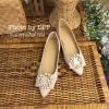 พร้อมส่ง : รองเท้าคัทชูไข่มุก (สีชมพู)