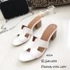 รองเท้าแตะสวมเสริมส้น Style Hermes (สีขาว)