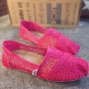 พร้อมส่ง : รองเท้าส้นแบนสไตล์ TOMS (สีชมพู)