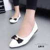 รองเท้าคัทชูหนังนิ่ม Style Dior (สีขาว)