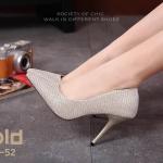 รองเท้าคัทชูผ้าลอนกลิตเตอร์ (สีทอง)