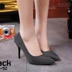 รองเท้าคัทชูผ้าลอนกลิตเตอร์ (สีดำ)