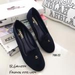 รองเท้า Loafer Style Chanel (สีกรม)