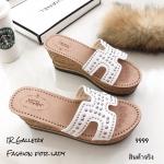 รองเท้าส้นเตารีด Style Hermes (สีขาว)