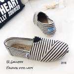 รองเท้า Style Toms ลายทาง (สีดำ)