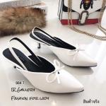 รองเท้าหัวแหลม Style Balenciaga (สีขาว)