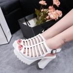 รองเท้าหน้าสานสไตล์แฟชั่นเกาหลี (สีขาว)