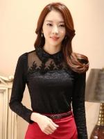 เสื้อทำงานผู้หญิงสีดำ แขนยาว คอ รหัสสินค้า 13-1116-ดำ
