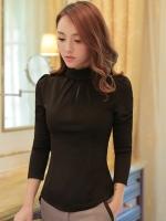 เสื้อทำงานผู้หญิงสีดำ แขนยาว รหัสสินค้า 13-8038-ดำ