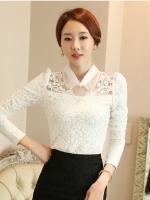 เสื้อทำงานผู้หญิงสีขาว แขนยาว คอปก รหัสสินค้า 13-1109-ขาว