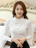 เสื้อทำงานผู้หญิงสีขาว แขนยาว รหัสสินค้า 13-T6159-ขาว