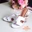 รองเท้าแตะสวมเสริมส้น Style Hermes (สีครีม) thumbnail 9