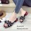 รองเท้าแตะโบว์แต่งลายจุดสไตล์แฟชั่นเกาหลี thumbnail 2