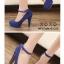รองเท้าคัทชูส้นสูงแต่งสายรัด (สีแดง) thumbnail 6