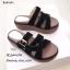 รองเท้าลำลองส้นเตารีดแต่งเข็มขัด (สีดำ) thumbnail 3