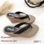 รองเท้าแตะคีบเสริมส้นสไตล์ลำลอง (สีดำ) thumbnail 2